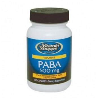 PABA/Ácido Para-Aminobenzóico 500mg (Antioxidante) Vitamin Shoppe