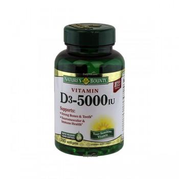 Vitamina D-3 5000 UI Nature's Bounty (300 Cápsulas)
