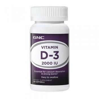 GNC Vitamina D-3 2000 UI (Absorção de Cálcio)
