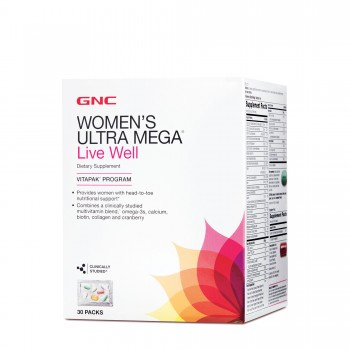 GNC Womens Ultra Mega (Vitapak) LIVE WELL