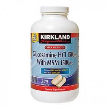 Glucosamina 1500mg + MSM 1500mg Kirkland 375 (6 Meses de Terapia)