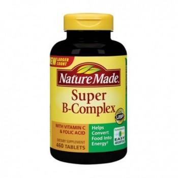 Vitamina Complexo-B Super Nature Made (Energia + Anti-Stress) 460 Cápsulas