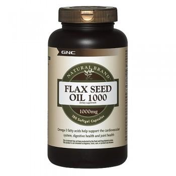 GNC Óleo de Linhaça 1000mg Ômega-3 (Flax Seed)
