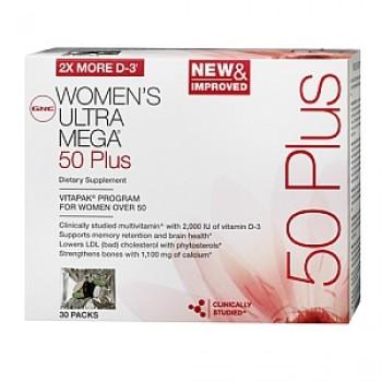 GNC Womens Ultra Mega (Vitapak) 50+ (Mulheres Acima dos 50)