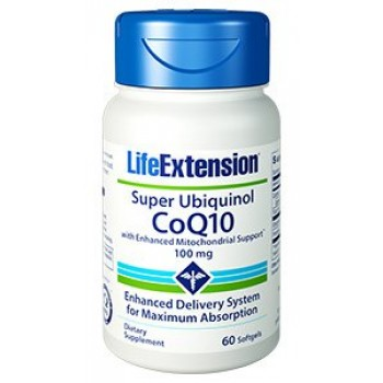 Super Ubiquinol (Coenzima Q-10) 100mg Life Extension 60