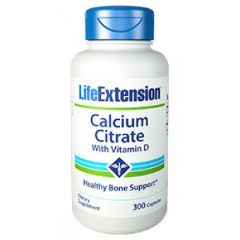 Calcium Citrate (Citrato de Cálcio) Life Extension 300