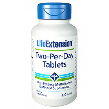 Two-Per-Day Tablets (Multivitamínico Completo) Life Extension 120