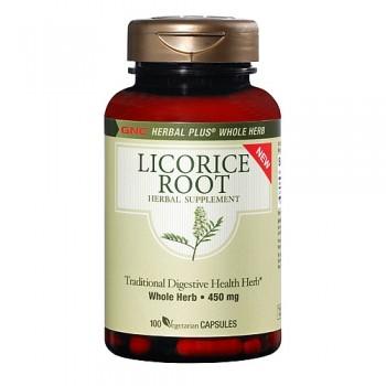GNC Raiz de Alcaçuz/Licorice 450mg (Saúde Digestiva)