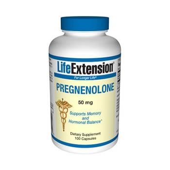 Pregnenolona 50mg (Equilíbrio Hormonal) Life Extension 100