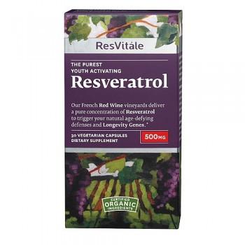 ResVitále Resveratrol 500mg (Antioxidante)
