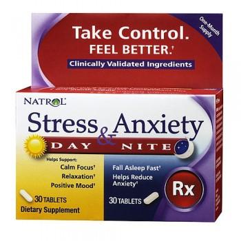 Stress e Ansiedade Fórmula (Dia e Noite) Natrol 60