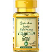 Vitamina D-3 1000 IU (Imunidade) Puritan