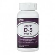 GNC Vitamina D-3 5000 UI (Absorção de Cálcio)