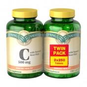 Vitamina C 500mg (500 Cápsulas) Spring Valley