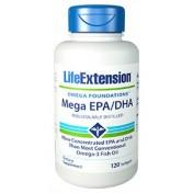 Mega EPA/DHA (Ômega-3) Life Extension 120