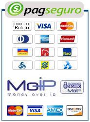 Aceitamos PagSeguro, Pagamento Digital, Moip é Paypal!